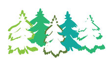 Christmas tree in the snow. Vector illustration it is maybe used for any professional project Royalty Free Stock Photo