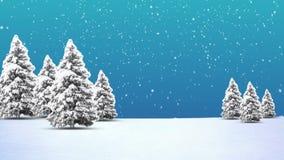 Christmas Tree and Snow stock video footage