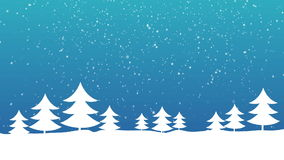 Christmas Tree and Snow stock footage