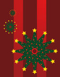 Christmas Tree Snowflake Royalty Free Stock Photos