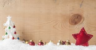 Christmas tree on snowflake background Royalty Free Stock Photos