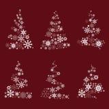 Christmas tree and snowflake design Royalty Free Stock Photos