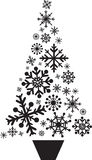 Christmas tree snowflakes Royalty Free Stock Image