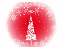 Christmas tree with snowflakes Royalty Free Stock Photos