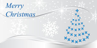 Christmas tree with snowflakes Royalty Free Stock Images