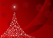Christmas tree with snowflakes Stock Images