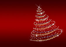 Christmas tree from snowflakes Royalty Free Stock Photography