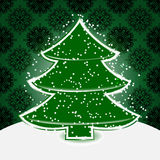 Christmas tree with snowflakes Stock Photo