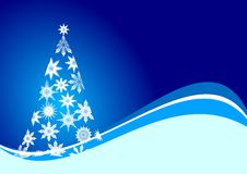 Christmas tree with snowflakes Royalty Free Stock Photography