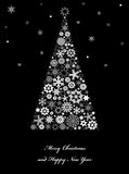 Christmas tree  with snowflakes. Royalty Free Stock Photos