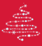 Christmas tree from snowflakes Stock Photography