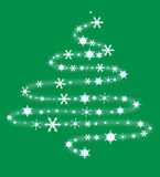 Christmas tree from snowflakes Royalty Free Stock Photos