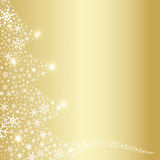 Christmas Tree Snowflakes Abstract Stock Images
