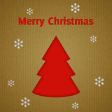 Christmas tree and snowflakes background Royalty Free Stock Photography