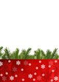 Christmas tree and snowflakes. border. Border from branches of a Christmas tree with snowflakes Stock Photography