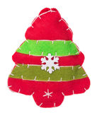 Christmas Tree with snowflakes fabric decoration on the tree Stock Images