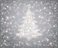 Christmas tree from snowflakes Stock Images