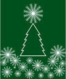 Christmas tree with snowflakes Royalty Free Stock Photo