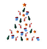 Christmas tree of snowflakes.paper cutout of snowflakes Royalty Free Stock Photos