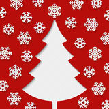 Christmas tree and snowflakes. Royalty Free Stock Photo