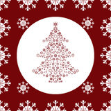 Christmas tree snowflakes seamless pattern background Royalty Free Stock Photography