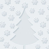 Christmas tree and snowflakes.. Royalty Free Stock Images