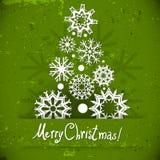 Christmas tree of snowflakes. Stock Image