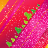 Christmas tree and snowflaks Royalty Free Stock Images