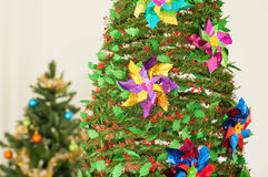 Christmas tree with some decoration.  Royalty Free Stock Image
