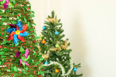 Christmas tree with some decoration.  Royalty Free Stock Photography