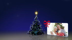 Christmas tree and some familys animations Stock Photography