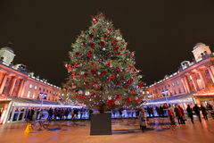Christmas tree in Sommerset House Royalty Free Stock Photos