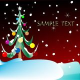 Christmas tree with space for text Stock Photography