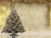 Christmas tree and space for text Stock Photography