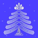 Christmas tree with space for writing wishes Royalty Free Stock Images