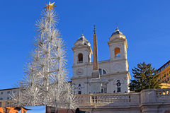 Christmas tree at the Spanish steps, Rome Stock Images