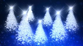 Christmas Tree Sparkle Blue Forest 4K Loop