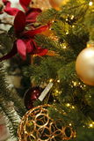 The Christmas tree. Special decorations for the Christmas tree Stock Image