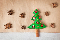 Christmas tree with spices Royalty Free Stock Photography
