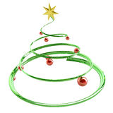 Christmas Tree Spiral. Christmas Tree, 3d shape, isolated Stock Photography