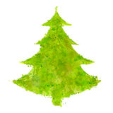 Christmas tree with splash texture Royalty Free Stock Photo