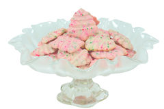 Christmas Tree Spritz Cookies Royalty Free Stock Photo
