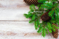 Christmas Tree Spruce Pine Wooden Stock Photos