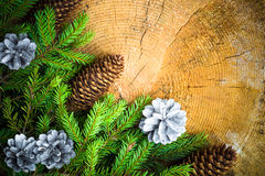 Christmas tree spruce pine wooden Stock Images