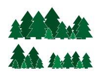 Christmas tree spruce set Royalty Free Stock Photography