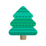Christmas tree spruce vector illustration. Royalty Free Stock Photography