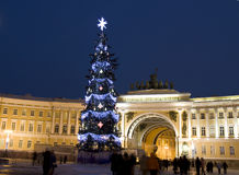 Christmas tree, St. Petersburg Royalty Free Stock Images