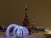 Christmas tree, St. Petersburg Stock Image