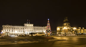 Christmas tree in St. Petersburg Royalty Free Stock Photos