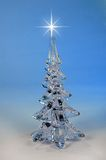 Christmas Tree and Star. Christmas tree with star on a blue background stock photos